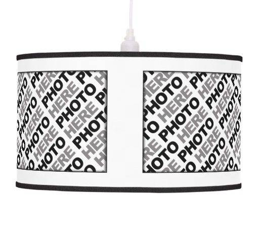 Create Your Own Add Photos Pendant Lamp Zazzle