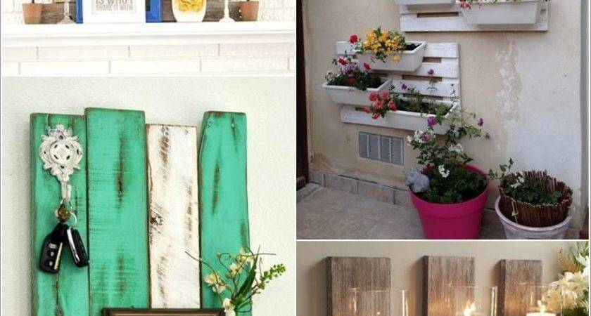 Creative Wall Decor Ideas Recycled Pallets