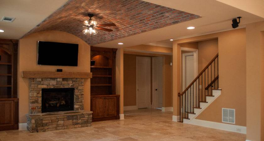 Creekstone Basement Brick Arched Paver Ceiling