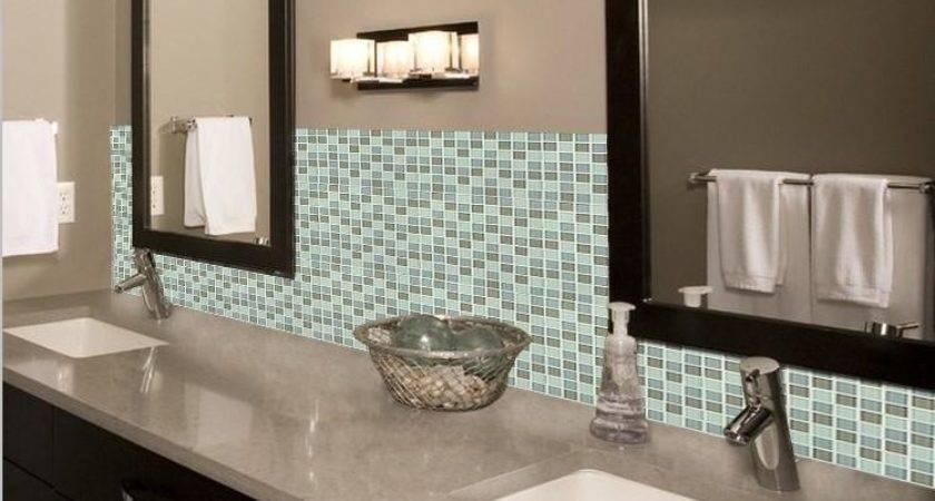 Crystal Glass Mosaic Tile Backsplash Bathroom Mirror Wall