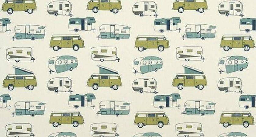 Curtain Panels Pair Lining Vintage Camper Fabric