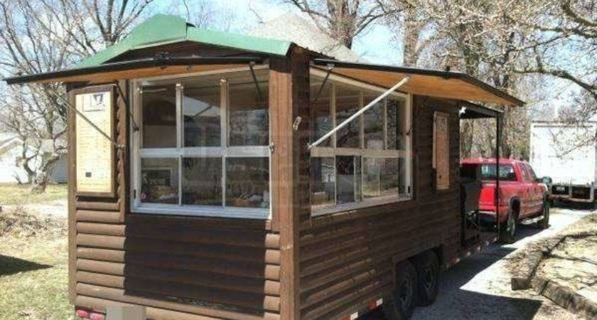 Custom Built Log Cabin Style Bbq Concession Trailer