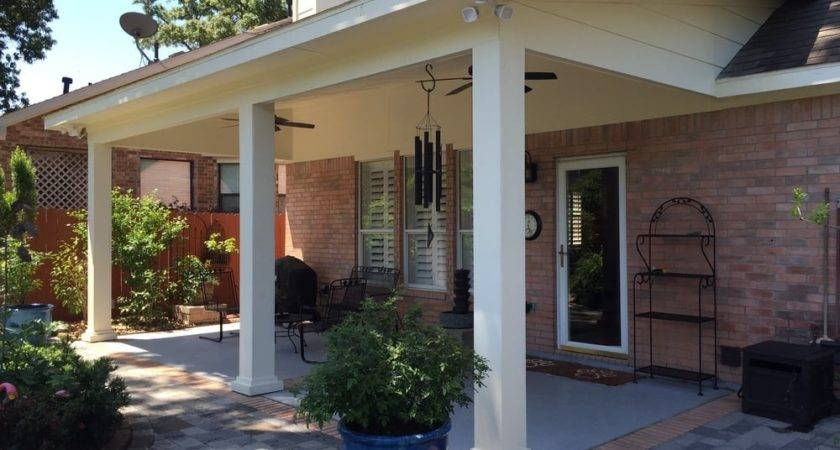 Custom Built Patio Cover Attached Roof Line Home Yelp