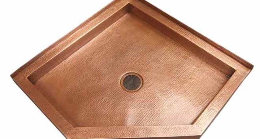 Custom Copper Shower Pans Bases Design