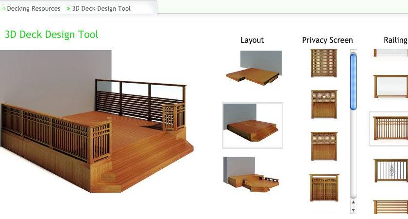 Custom Deck Design List Top Tools
