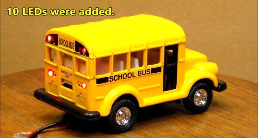 Custom Lighted Short School Bus Youtube