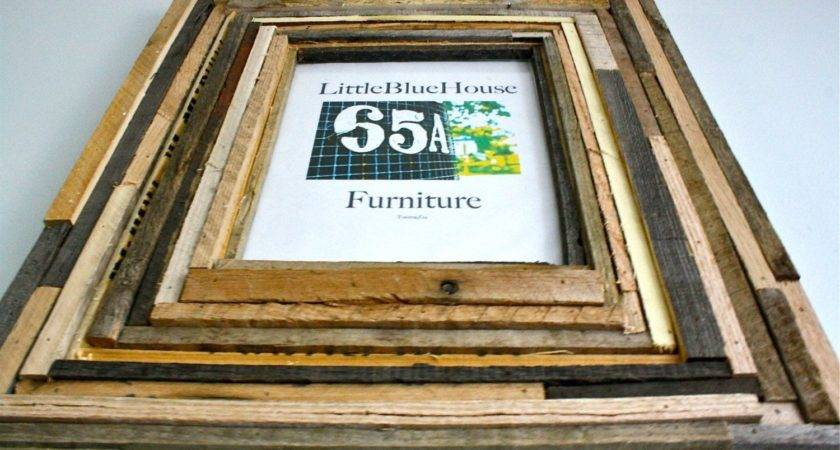Custom Multiple Layered Wood Frame Made Recycled
