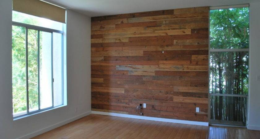 Custom Reclaimed Wood Accent Wall Rustic San Diego