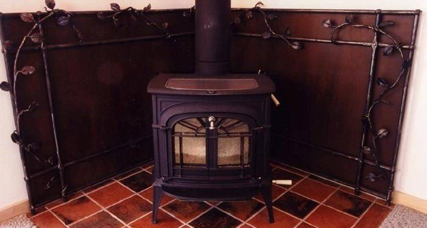 Custom Wood Stove Heat Shield Steve Fontanini