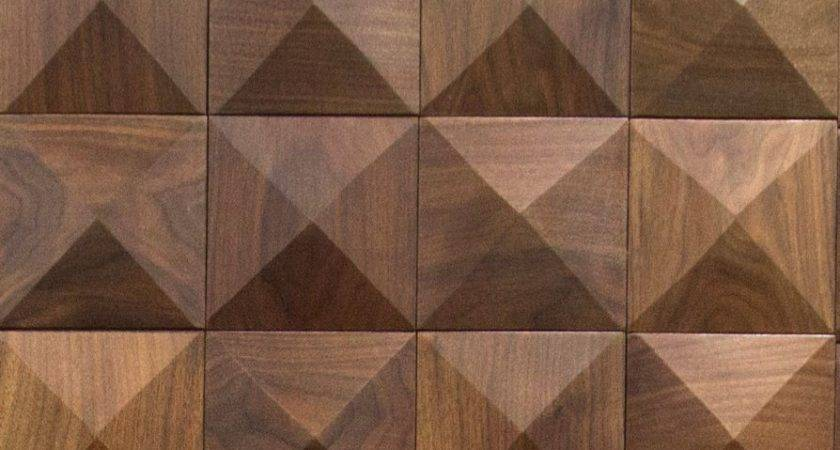 Cuttoffs Wood Wall Panel Pyramid Pattern Tile