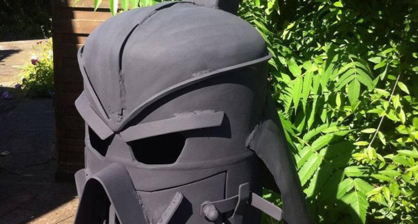 Darth Vader Outdoor Wood Stove