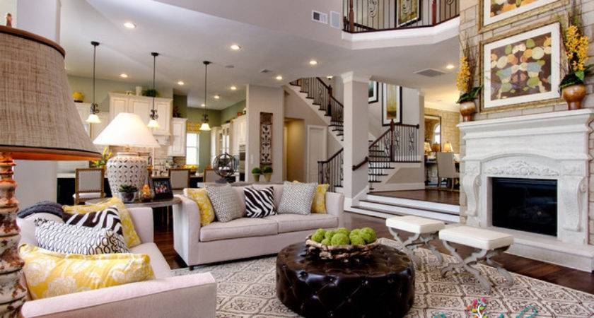 David Weekley Model Home Contemporary Living Room
