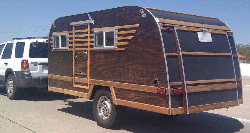 Day Homemade Wood Paneled Camper