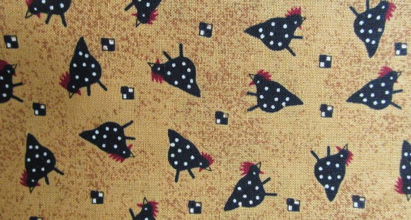 Debbie Mumm Country Primitive Chicken Toss Cotton Fabric