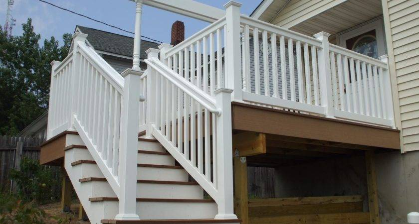 Deck Designs Stairs Landing Design