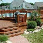 Deck Landscaping Planting Shrubs Trees Around