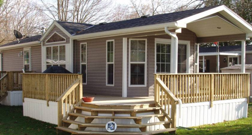 Deck Mobile Homes Ideas
