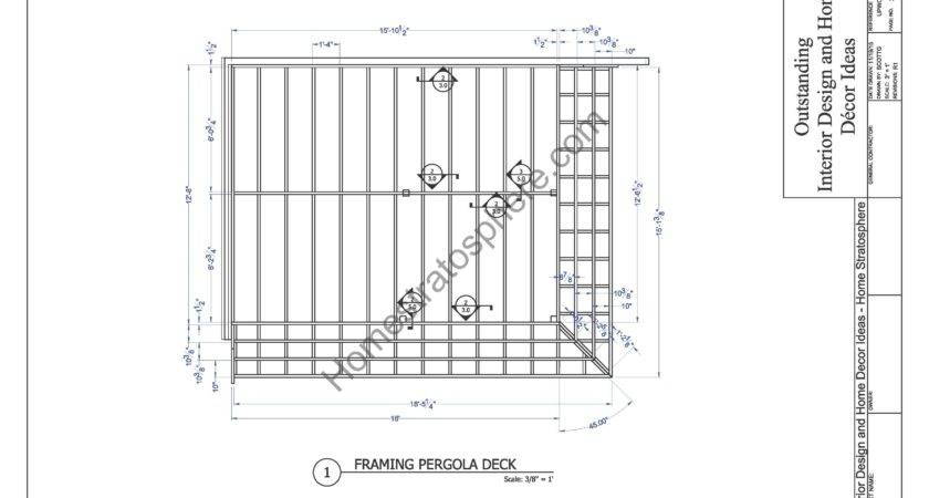 Deck Plan Pergola Pdf Blueprint