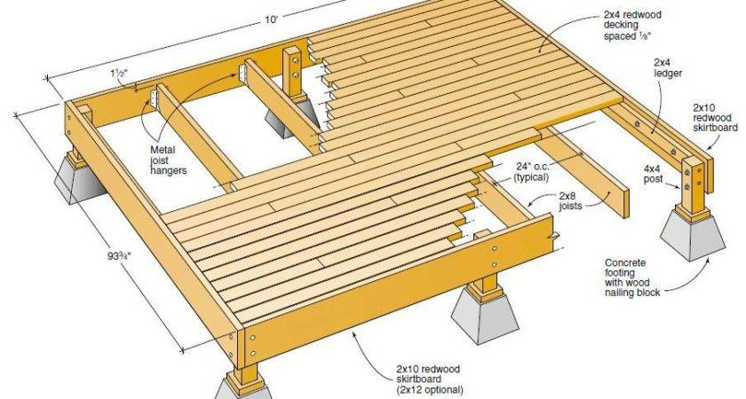 Deck Plans Diy Project