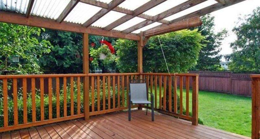 Deck Roof Options Roofing Diy Home