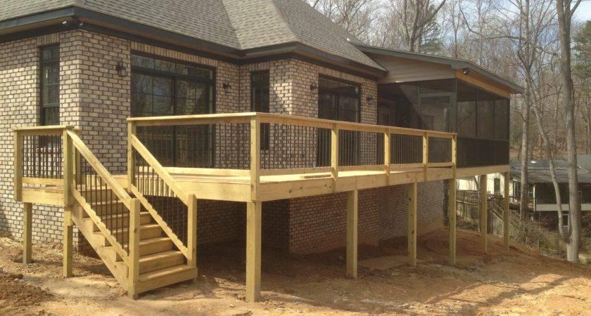 Deck Screened Porch Carolina Carpenter