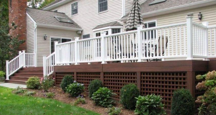 Deck Skirting Ideas Jbeedesigns Outdoor