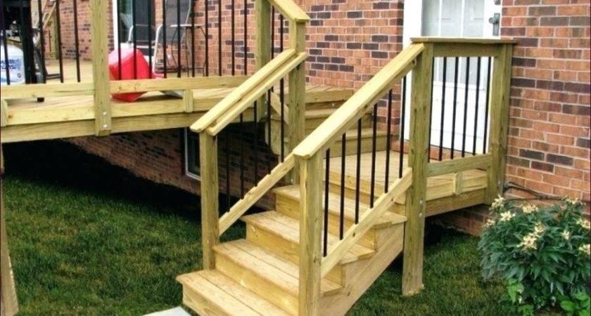 Deck Stair Stringer Brackets Attaching Stringers
