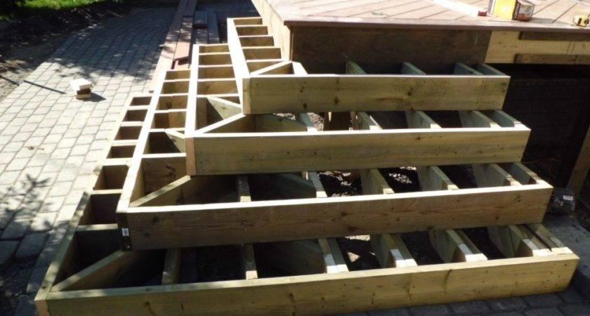 Deck Stairs Degrees Corner Design Ideas