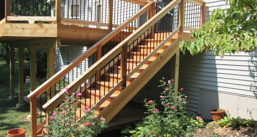Deck Stairs Ideas Choose Best Stair Design