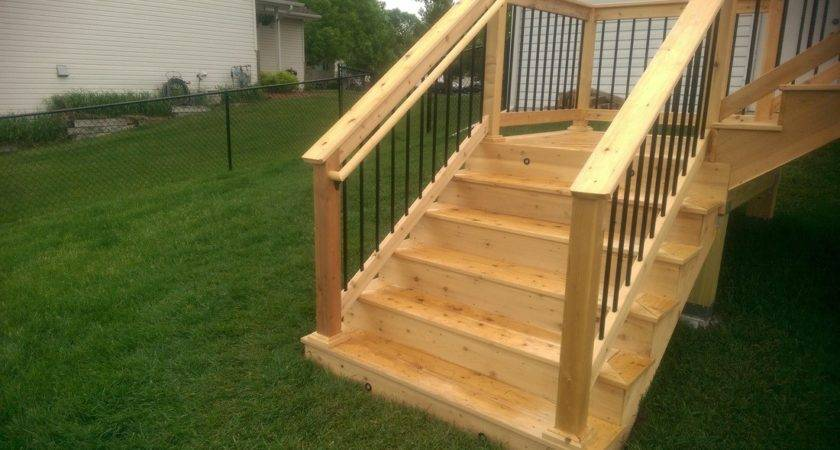 Deck Stairs Ideas New Home Design Make Simple