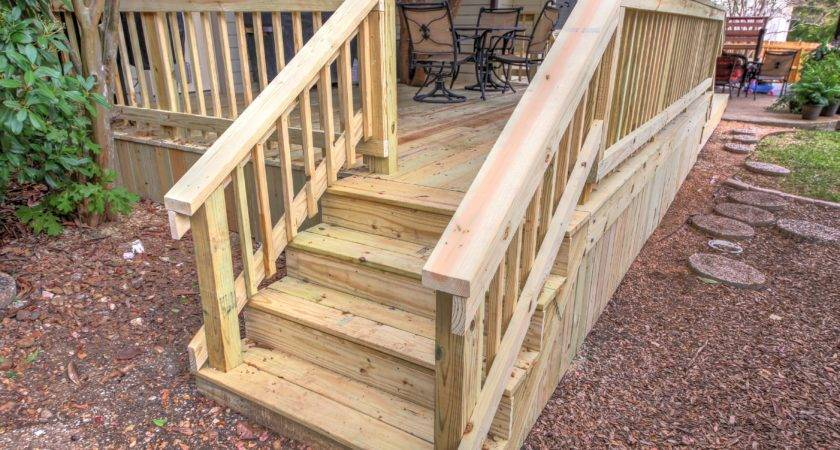 Deck Stairs Railing Renovate Paint Design