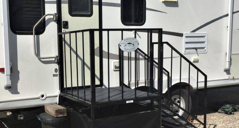 Deck Stairs Wheel Park Model Joy Studio