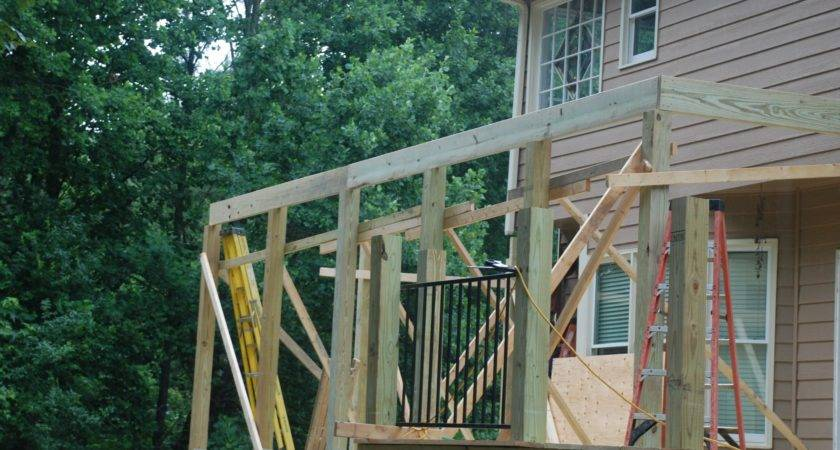 Decks Building Shed Roof Over Deck