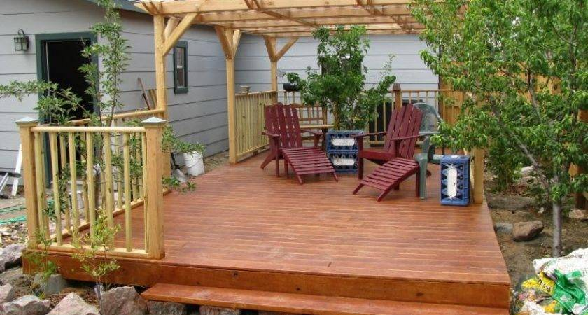 Decor Floating Deck Footings Doherty House Creating