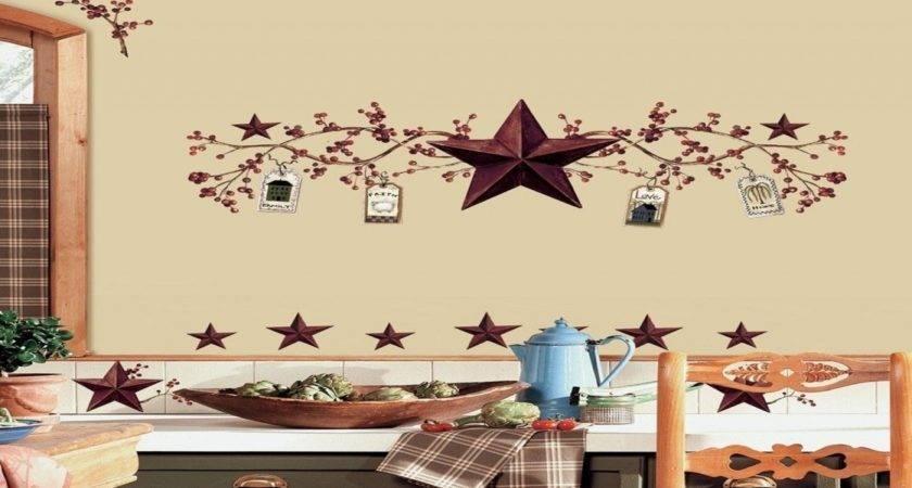 Decor Kitchen Walls Barn Star Country