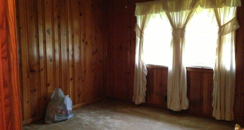 Decorate Around Dark Wood Paneling