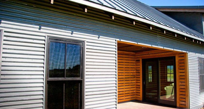 Decorate Exterior Using Corrugated Metal Siding