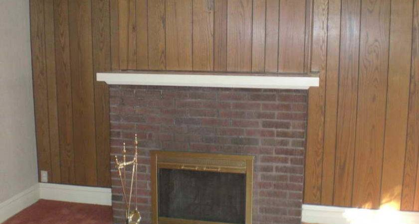 Decorate Wood Paneling Without Painting Fireplace