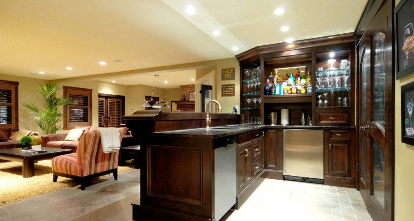 Decorating Best Basement Bar Designs Jeffsbakery