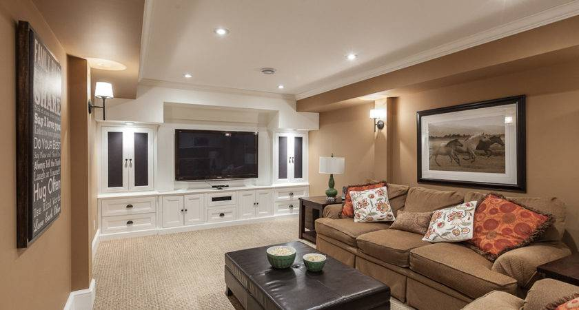 Decorating Small Basement Room Brown