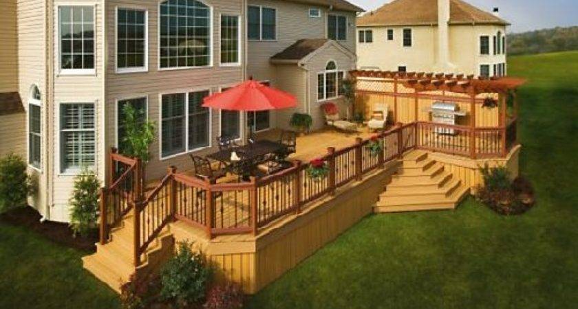 Decoration Patio Deck Designs Nice Outdoor