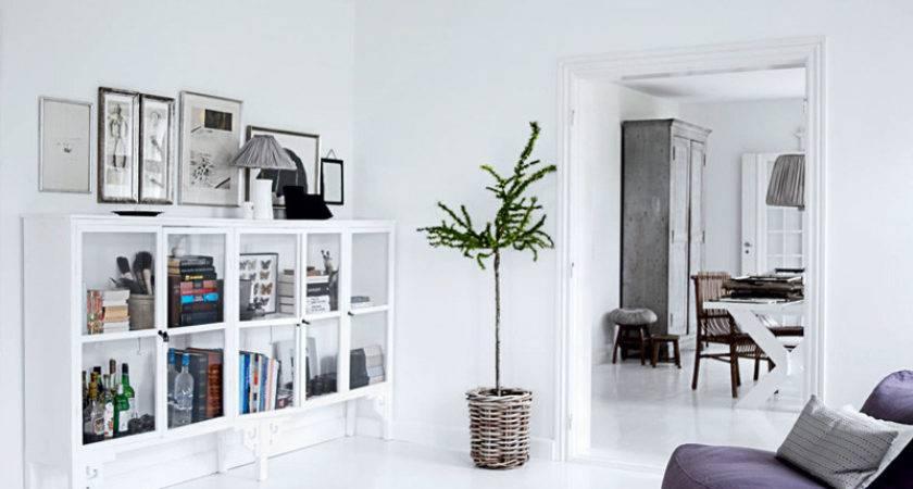 Decorative All White Home Interior Design