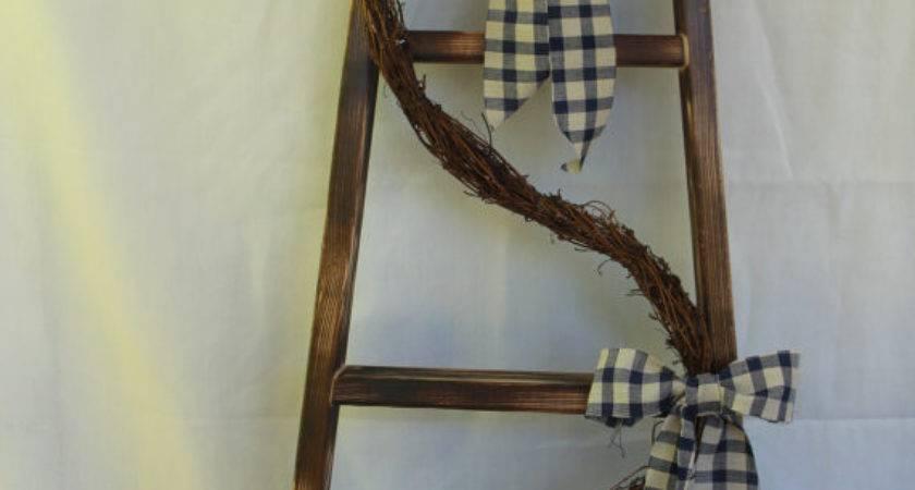 Decorative Ladder Primitive Decor Wall