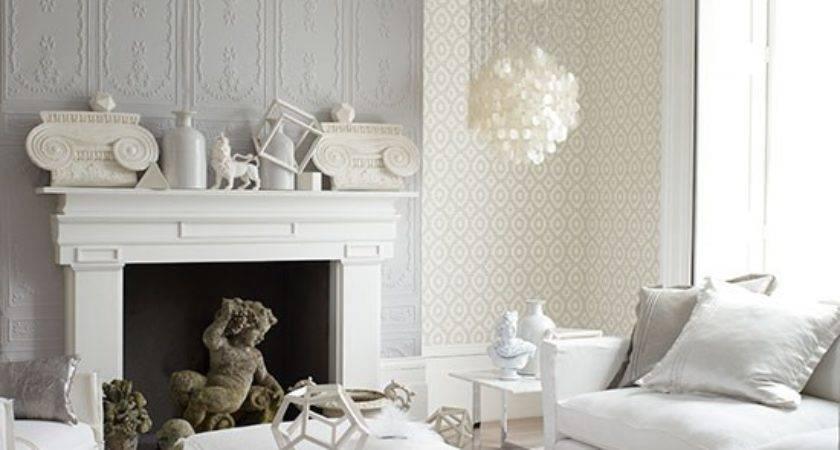 Decorative White Grey Living Room