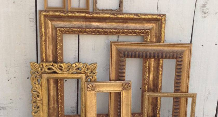 Deep Gold Wall Frames Set Refeatheryournest