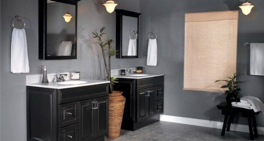 Delightful Standard Design Small Grey Vanity Bathroom