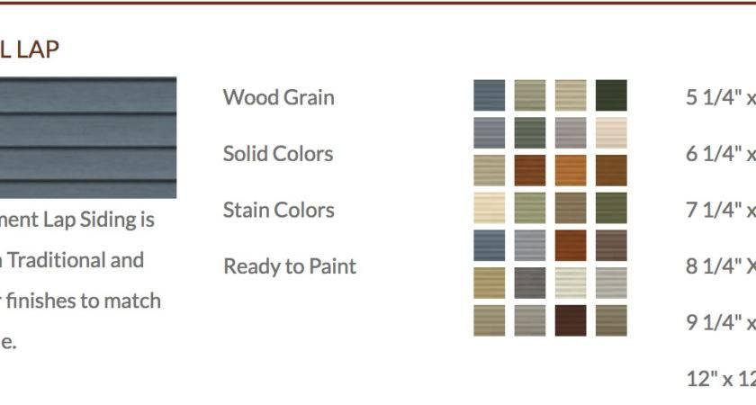 Denver Fiber Cement Lap Siding Allura Color Palette