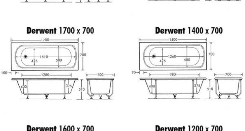Derwent Bath Many Sizes Available Straight Baths