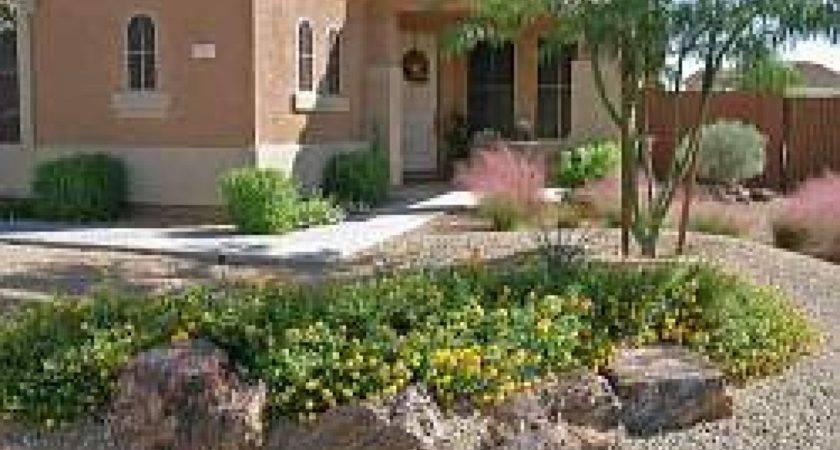 Desert Rock Garden Front Yard Landscaping