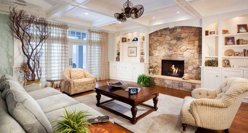 Design Fieldstone Fireplace Living Room Fresh